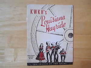 ELVIS-Louisiana-Hayride-Souvenir-album-program-reproduction