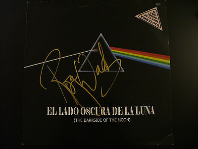 Roger Waters Signed Dark Side Of The Moon Vinyl Cover (Argentina) W/Proof & COA