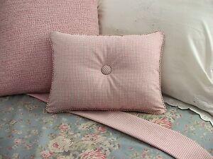 NEW-Custom-Ralph-Lauren-Gwen-Gingham-Accent-Pillow-Vintage-Rose-Pink-B