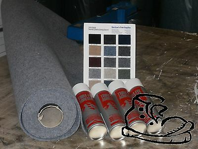 5MTR VAN LINING VELTRIM TOP QUALITY CAMPERVAN LINING CARPET AND 5 TINS TRIMFIX