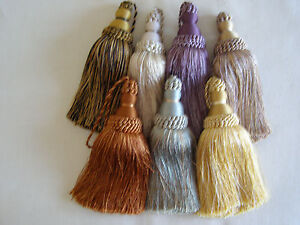 IMPRESSIONIST-LARGE-KEY-TASSELS-black-beige-gold-terracotta-green-natural