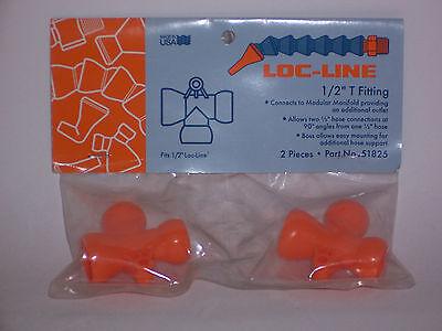 Loc-line 1/2 Hose (female) To 1/2 Hose (2 Male) T Fitting 51825