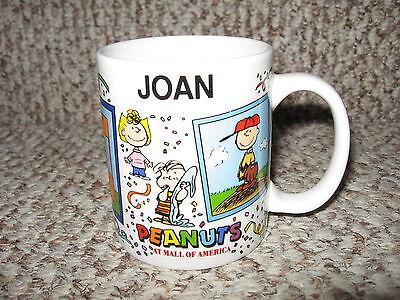 Mall Of America Peanuts Personalized 'Joan' Coffee Mug EUC