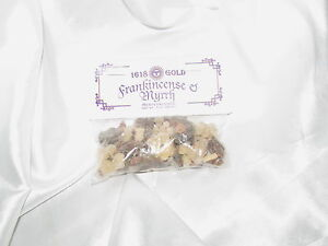 Frankincense and Myrrh Resin Incense 1 OZ Wicca Hoo Doo