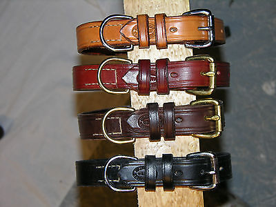 Leather Dog Collar, D Ring With A Place For Tags. .75 Wide