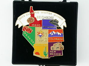 2002 SALT LAKE CITY OLYMPICS NEIGHBORS PIN SEVEN STATES (SL3176A)