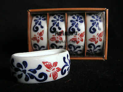 Brand Pier 1 One Imports In The Box Set Of 4 Ceramic Napkin Rings Holders