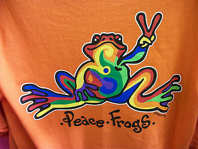 PEACE FROGS FROG RETRO ADULT ORANGE XX-LARGE T-SHIRT