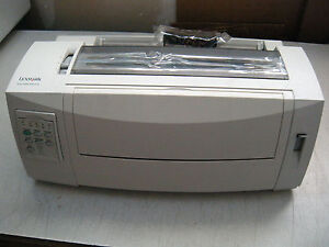 Refurbished-Lexmark-2580-100-Dot-Matrix-Forms-9-pin-Printer-B-W-Par-USB