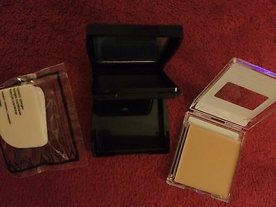 Mary Kay Pressed Powder Beige 1, Compact Mini & Sponges Lot Of 3