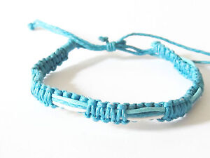 BRACELET WRISTBAND COTTON HEMP PINK BLUE BLACK GREEN RED ANKLET MEN SURF BEACH