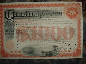 West-Shore-Railroad-Company-Bond-Stock-Certificate-New-York-Central-Hudson-RR