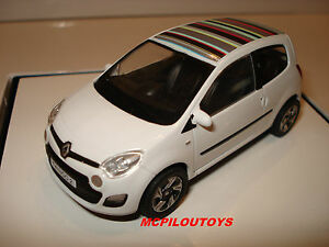 renault twingo ii phase 2 blanche toit decore 2012 au 1 43 ebay. Black Bedroom Furniture Sets. Home Design Ideas