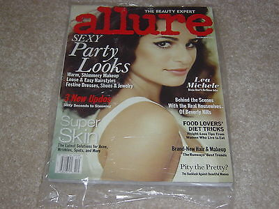 Lea Michele December 2011 Allure Magazine New   Party Looks   Skin Solutions