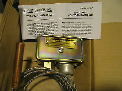 Detroit Switch Thermostatic Switch 222-10nl-2222495 Nsn: 5930-01-064-9947