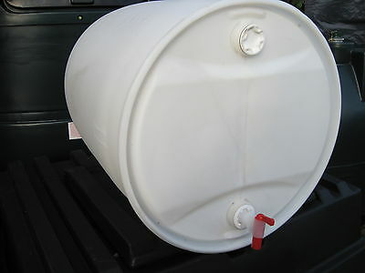 160 Litre Recycled New Twin Bung Cider Water Barrel Container & Self Venting Tap