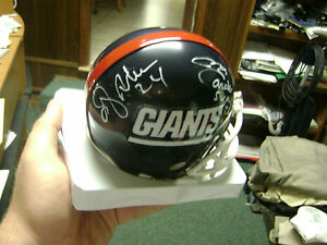 Ottis-O-J-Anderson-Phil-Simms-Maurice-Carthon-NY-New-York-Giants-signed-Helmet