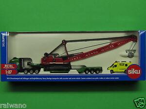 1:87 Siku Super 1834 Schwertransport mit Seilbagger und Begleitfahrzeug