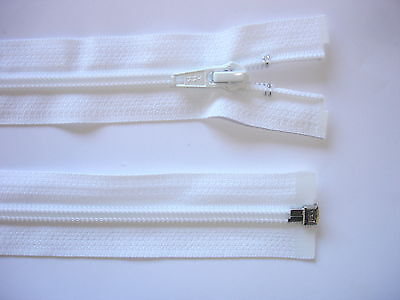 RV 431 - Reißverschluß weiß ykk 65 cm lang, teilbar 1 Stück