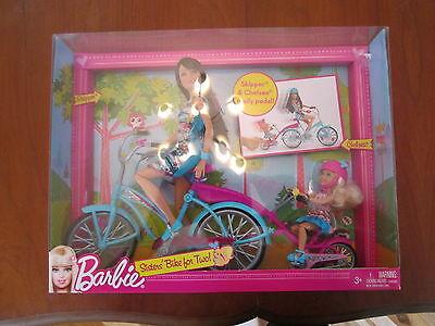 Barbie Doll Skipper Chelsea Sisters' Bike For Two Girls Toy In Box 2010