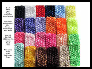 Lot-of-50-1-5-Crochet-Headbands-YOU-PICK-COLORS