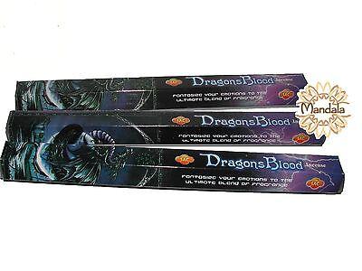 Encens Dragons Blood Sandesh Lot 3 Boites De 20 Batonnets (indian Incense)