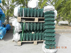 4 FT - PVC Chain Link Fencing 25mtr (1200mm) c/w Straining Wires