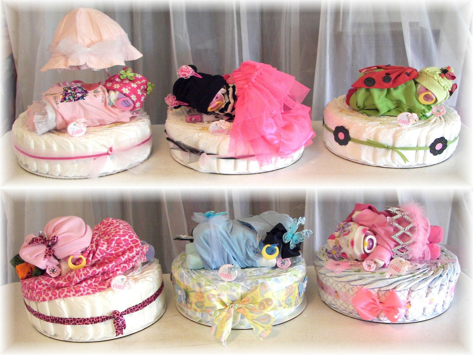 baby shower diaper cake newborn diaper baby girl all in one
