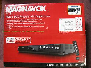 new magnavox 320gb mdr533h f7 hdd dvr dvd dvdr recorder w digital tuner hd ebay. Black Bedroom Furniture Sets. Home Design Ideas