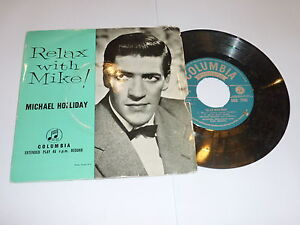 MICHAEL-HOLLIDAY-Relax-with-Mike-UK-4-track-7-vinyl-single-EP