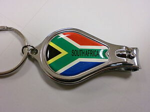 south africa flag on nail clipper with file bottle. Black Bedroom Furniture Sets. Home Design Ideas