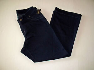 Lane Bryant Venezia Women Dark Medium Flare Denim Jeans Pants Petite Tall Avg