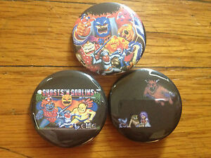 Ghosts-N-Goblins-1-5-pins-set-of-3-buttons-EARTHBOUND-ghouls-snes-NES-nintendo