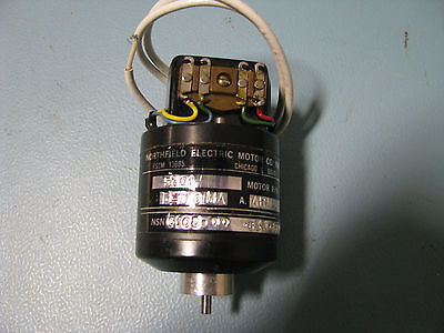 Northfield Electric Dc Motor 5701-00 Nsn 6105-00-635-6607 505-4547-003