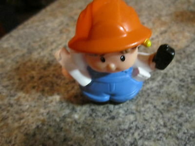 Fisher Price Little People construction worker village man boy cell phone plans - Village People Construction Worker