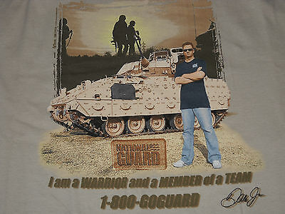 Nascar Dale Earnhardt Jr. National Guard Boys T-shirt 14 / 16 Large