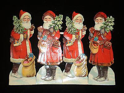 30 Bögen alte Oblatenbilder Weihnachtsmänner,Glanzbilder aus Bäckereiauflösung