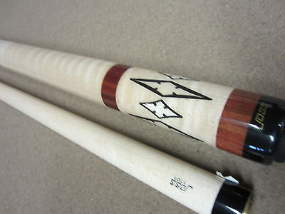 Joss Jos74 Pool Cue Bloodwood & Curly Maple Cue W/ Free Case & Free Shipping