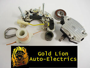 NEW LUCAS ALTERNATOR A127 REPAIR KIT -RECTIFIER -REGULATOR -SLIPRINGS MASSEY
