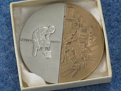 1967 Handy   Harman Sterling Silver Inset Bronze Medal Medallic Art Co  B8315
