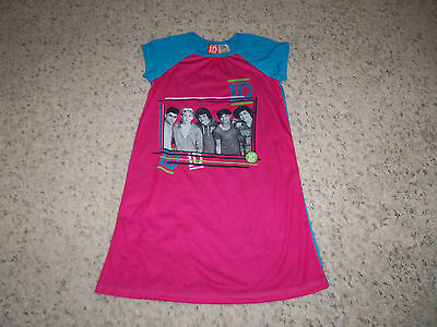 Girls Pink And Blue 1d Nightgown Size L (10/12)