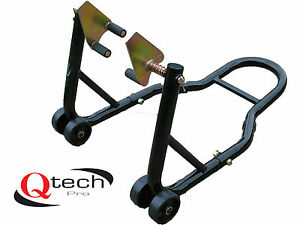 front fork paddock stand motorcycle motorbike track bike universal lift ebay. Black Bedroom Furniture Sets. Home Design Ideas