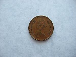 ONE 1971 1/2 NEW PENNY D.G.REG.FD ELIZABETH II UNGRADED