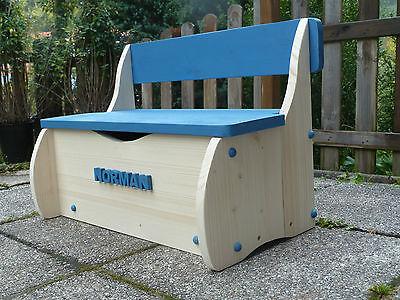 Kindersitzbank- Sitzbank-Kindermöbel-Holzbank-Stuhl-Kinderbank - mit Namen - NEU