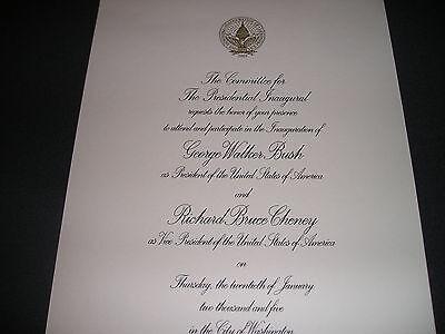 White House President George W Bush Inaugural Invitation 2005
