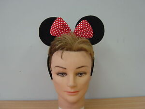 Mickey and Minie Mouse Ears Headband Fancy Dress