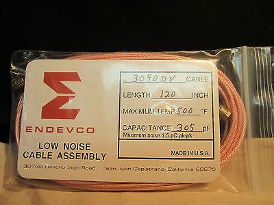 Endevco 3090dv Cable 500f Piezoelectric Accelerometer Calibration Vibration