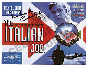 Italian Job Original Signed, Autograph Photo Print Film Poster Michael Caine