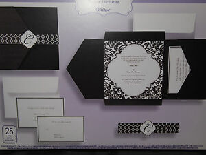 25ct wilton damask invitations rsvp reception kit wedding envelope 188