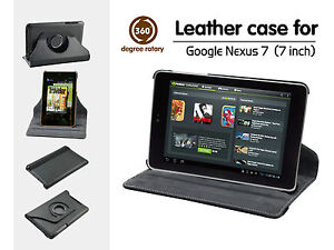 For-Google-Nexus-7-inch-Tablet-360-Rotating-Leather-Stand-Case-Cover-Black